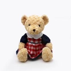 Giocattolo simile a pelliccia dell'orso dell'orsacchiotto della peluche di buon compleanno di giorno del biglietto di S. Valentino del Brown