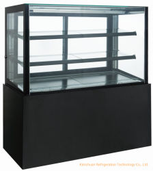 Rectangule expositor refrigerado para tartas de suelo de la pantalla de la enfriadora Arcón nevera comercial