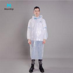 شعار مخصص الطباعة البلاستيكية الواقي من المطر قابل للاستخدام مرة واحدة المطر بونشو