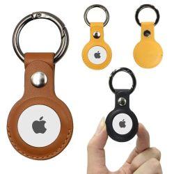 Laudtec 분실 방지 보호 커버 Apple Airtags용 정품 가죽 케이스 Apple Airtags용 Key Ring Tracker Protected Cove 포함