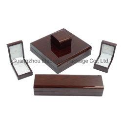 China-Fabrik-dunkles Luxuxklavier-glatte lackierte hölzerne Schmucksache-gesetzte Kiste