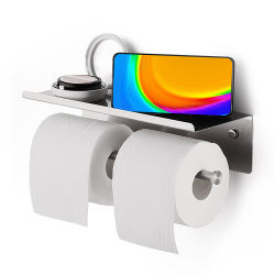 Salle de bain de métal en acier inoxydable 304 SUS monté sur un mur Serviette de toilette rouleau de support de papier