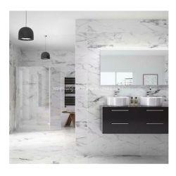 Cinza/Branco Puro Azulejos do piso em mármore/laje/Vanitytop Pedra Natural para bancada/cozinha/Mesa/Banho