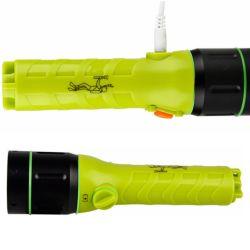 LED rechargeable Lampe torche sous-marin IP68 Lampe de poche de plongée professionnelle sous-marin