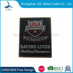 Distintivo Di Sicurezza In Metallo Con Placcatura Nera Personalizzata (101)