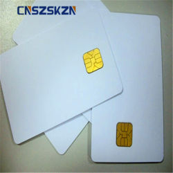 ISO7816 Mag 줄무늬를 가진 열 인쇄할 수 있는 FM4428 접촉 칩 PVC 공백 백색 보통 스마트 카드