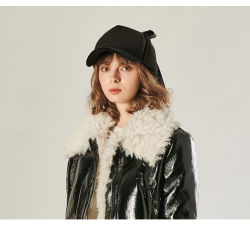 厚肉の秋と冬の折りたたみ式野球帽、 Warm Women Cap Hat 、ポリエステルキャップ、ロングバイザー