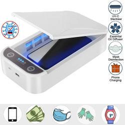声の放送を用いるAromatherapy機能の紫外線携帯電話のSanitizerの携帯用紫外線のスマートな電話滅菌装置の紫外線ランプ