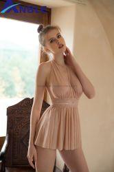 3가지 색상의 투명한 섹시한 란제리 드레스