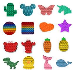2021 실리콘 피드기 장난감 팝 지적 및 교육용 장난감 맞춤형 어린이용 심적 산술 데스크톱 퍼즐 장난감