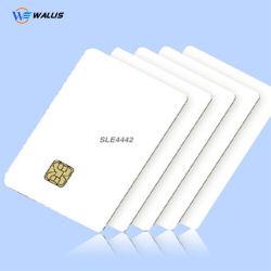 Cr80 PVC/PC/ABS/Pet Smart Contact IC карты Sle4428/ Sle4442/ FM4442 для струйной печати с возможностью перезаписи белый пустой чип-карты