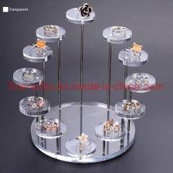 Les disques renouvelable personnalisé de l'acrylique Necklace Présentoir de bijoux de l'organiseur