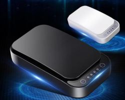 Handy-Desinfizierer-Reinigungsmittel-Kasten des UVdesinfizierer-253.7nm Multi-Verwenden beweglicher mit drahtloser Aufladeeinheit u. USB-Aufladeeinheit, Handy-Desinfektion für iPhone Android