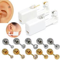 Steriles Ohr-Piercing Geräten-Knorpeltragus-WegwerfschneckenPiercing Gewehr kein Schmerz-Bohrer-Hilfsmittel mit sicherem Kugel-Faltenbildung-Set