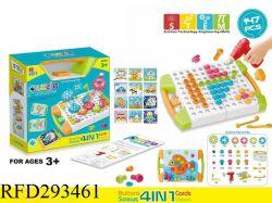 4 em 1 Porcas e Parafusos de brinquedos do bloco de administração educacional 3D Puzzle Kit de brinquedos