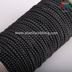koord van de Polyester van 3mm het Zwarte Witte Gestreepte Elastische