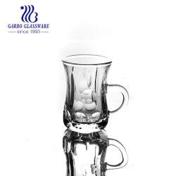 80ml 작은 커피 손잡이 (GB090104YD)를 가진 아이랜드 마시는 컵 우아한 유리제 차 찻잔