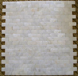 白い真珠色のシェルのモザイク・タイル(HMP71)