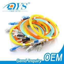 Upc/APC SC/LC/FC/ST/MU/MTRJ/E2000 Conector Óptico Simplex/duplex monomodo 62,5/125 cabo multimodo OM1/OM2/OM3/OM4 2.0/3.0mm, 3m fiber optic patch de Alimentação