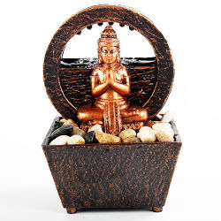 Stoneの卸し売りResin Indoor Table Decor Budas Fengshui Mini仏Statue Resin Water Fountain