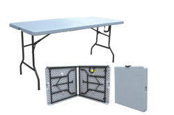 Portable Hotsale 6FT Renctangle 72 pouces en plastique tables pliantes de pique-nique Camping en plein air (M-X1803)