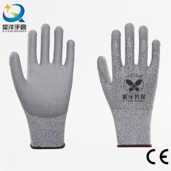 عمالة السلامة العاملة 4X42D من المستوى 5 مقاومة القطع HPPE/Nitrile/Latex اعمل مع CE بقفازات