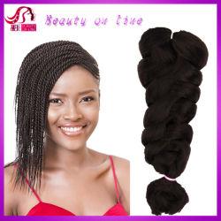 Soft cabello sintético trenzado a granel, X-represión Cabello, usa fibra Kanekalon