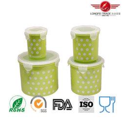 4PCS صندوق تخزين الطعام البلاستيكي المزود بغطاء محكم الإغلاق