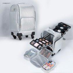 Nuevo diseño de moda con el maquillaje del organizador de la bandeja multiusos Carro de rodadura de los casos