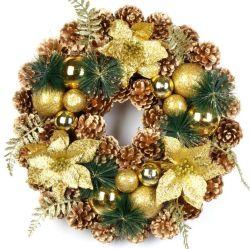 2020 Nuevo diseño de Corona de Navidad guirnalda de Navidad Adornos colgantes