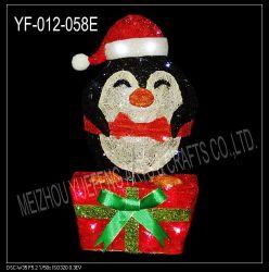 Sisal Pengiun met de Doos van de Gift (yf-012-058E)