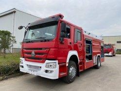 China del camión de bomberos de Alta Calidad de Agua de 4X2 Camiones HOWO Incendio Camión Contra Incendios