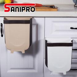 Sanipro Cabinet 욕실 작은 행잉 키친 휴지통 접이식 미니 쓰레기통 차량 쓰레기 치우는 쓰레기통