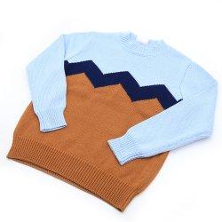 Los niños jersey de algodón cuello redondo Zig Design
