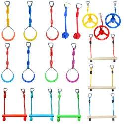 놀이터 닌자 선 장애물 코스 어린이 어린이 체육관 공중 스윙 체조형 링