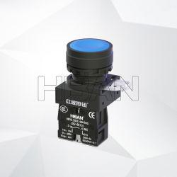Hban New Style Xb2 Hby5 Flat Round 22mm, 순간적인 없음 전기 푸시 버튼 전원 스위치 LED