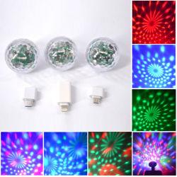 USB 소리에 의하여 활성화된 Halloween DJ 디스코 공 단계 빛 다중 색깔 LED 차 대기권 빛 마술 스트로브 빛이 소형 디스코 빛에 의하여 당 3 팩 공 점화한다