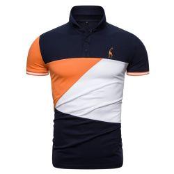 Shirt-Polo gestickter Baumwolzoll der Männer Short-Sleeved