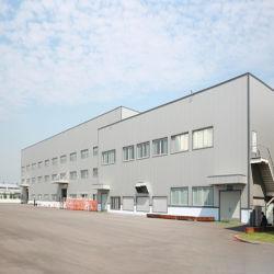Edificio per uffici commerciale incorniciato della struttura d'acciaio, costruzione prefabbricata dell'acciaio per costruzioni edili con l'illustrazione