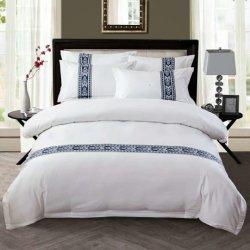 Shenone 싼 가격 아파트 사용 고품질 호화스러운 면 상자 디자인 침구는 침대 시트 100% 이집트인 호텔 직물을 놓는다