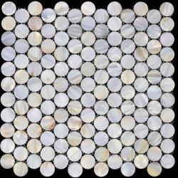 Pure White Natural Chinese Freshwater Shell Mozaïek tegel Home Decoratie