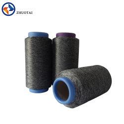 filato grigio 100% di colore del Melange del poliestere 100d per gli indumenti di lavoro a maglia di sport