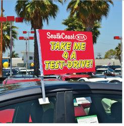Affichage d'impression personnalisé durables de la publicité Drapeau de la fenêtre de voiture