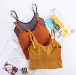 Form-Schönheits-Rückseiten-Oberseite-Büstenhalter-nahtloser aufgefüllter Unterhemd-Sport-Büstenhalter-Schlaf-Büstenhalter der Frauen-unsichtbarer U mit elastischen Brücken