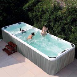 Grande infinitas Fibra de nadar adultos piscina spa banheira de hidromassagem infinitas exterior Inground