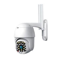 Colorée infrarouge Night Vision 2MP caméra de sécurité CCTV PTZ pour l'extérieur