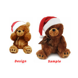 الشركة المصنعة الجملة مخصص الطعم الكريسماس المحشو الحيوانات الطرية الطفل البلش الدمى لعب هدايا بير