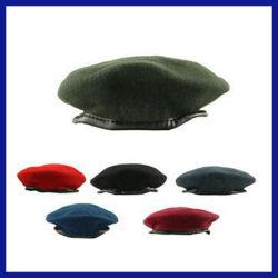 편리한 모직 모자 군 베레모 모자 (SYSG-1820)