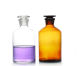 Vaschette da laboratorio per afotecaria in vetro reagenti trasparenti e ambra