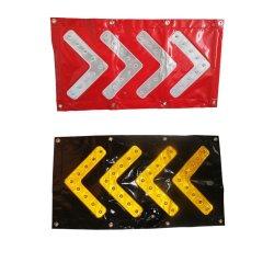 Foldable LEDのトラフィックガイドPVC方向矢の安全警告の標識燈